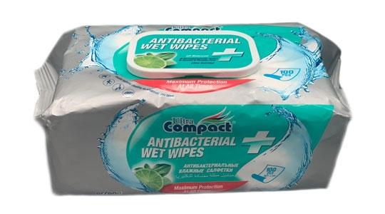 Lingettes antibactériennes ultra compactes 100 pcs